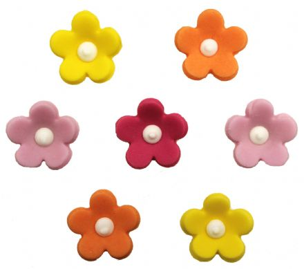 Assorted Blossoms Sugar Decorations
